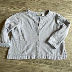 Vintage Snap Front Sweatshirt